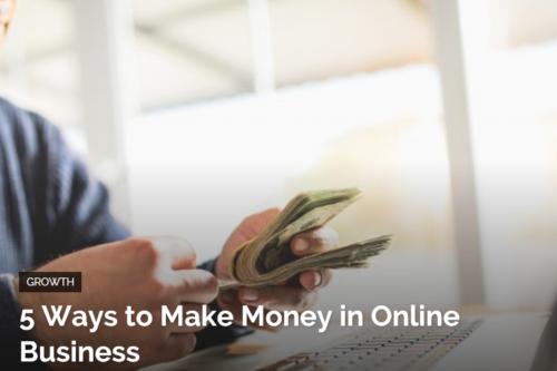 make money in online business