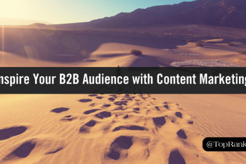 inspire with B2B content marketing
